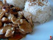 servo il pollo insieme al riso