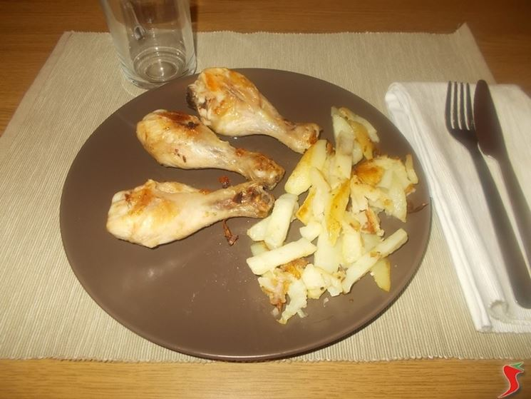 Il pollo con patate