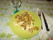 Le scaloppine di pollo ai funghi
