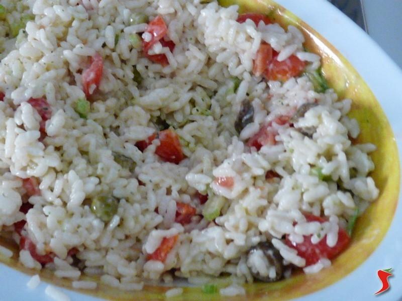 fesa di tacchino arrosto insalata di riso