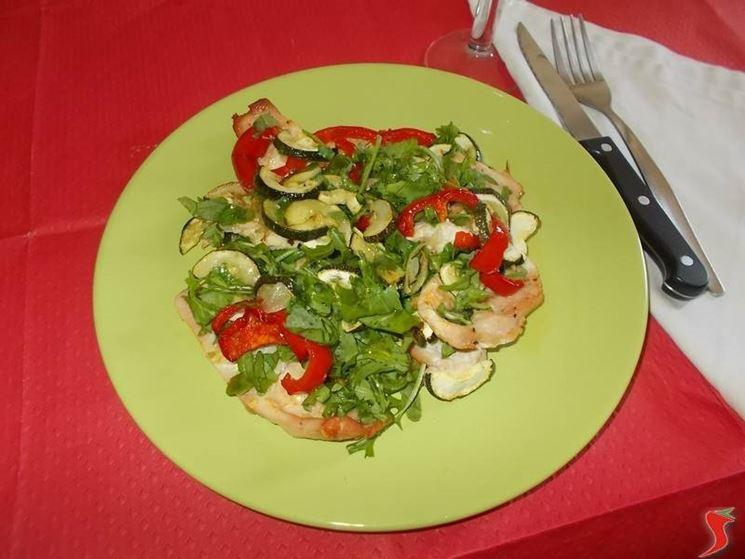 Il tacchino con le verdure
