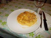 La frittata di prosciutto crudo