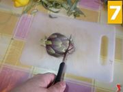 Trattate i fiori dei carciofi
