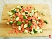 carote e zucchine tagliate