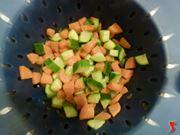 carote e zucchine cotte da colare
