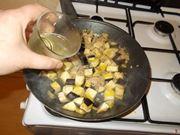 La cottura delle melanzane