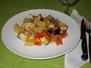 Le patate e melanzane al forno