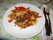 Le patate con i peperoni