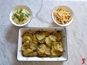 patate al forno, patate a la maitre d'hotel, patatine fritte
