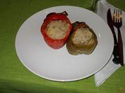 I peperoni ripieni di carne