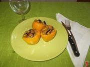 I peperoni vegetariani ripieni