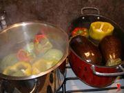 peperoni in acqua calda
