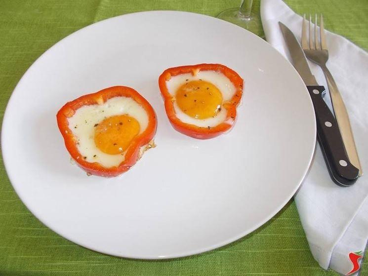 I peperoni con le uova