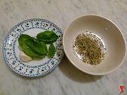 origano, aglio e basilico