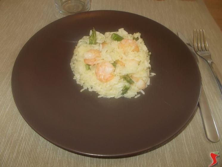 Riso asparagi e gamberetti