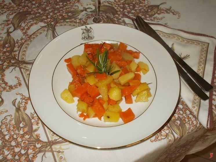 La zucca con patate