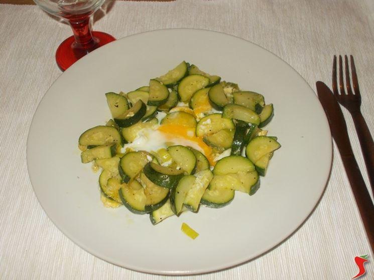 Zucchine con uova