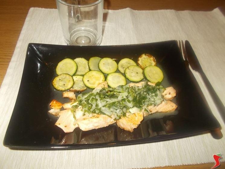 Zucchine al salmone