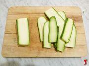 taglio delle zucchine