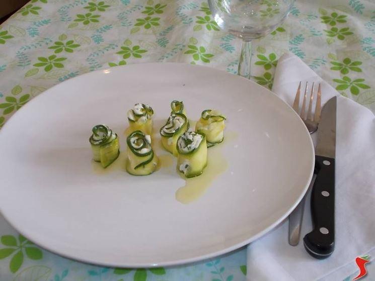 Le zucchine con il formaggio Philadelphia