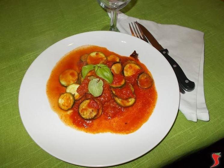 Le zucchine al pomodoro