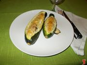 Le zucchine ripiene di carne