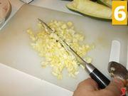 Svuotare le zucchine